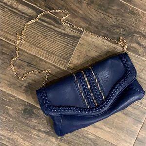 Handbags - Royal blue crossbody clutch